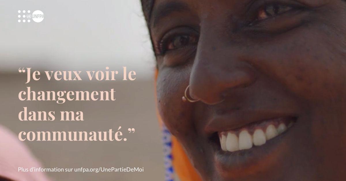 Le changement commence quand les communautés choisissent d'abandonner les #mutilationsgénitalesféminines une fois pour toutes. Découvrez l'histoire inspirante de Zahra : unf.pa/Zahra_fr #SeeAPieceOfMe #EndFGM
