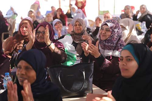 Women attend a recreation day at Al-Gouna Resort.