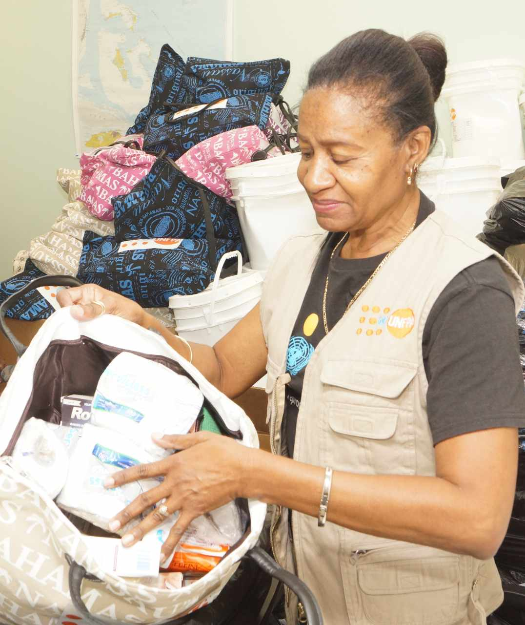 UNFPA staff member in the Bahamas