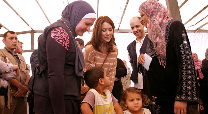 UNFPA Patron, H.R.H. Crown Princess Mary of Denmark, Visits Syrian Refugees in Jordan