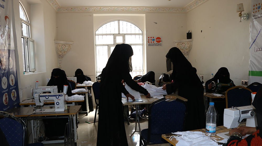 From child bride to fearless face mask maker: Yemen's safe spaces help women...