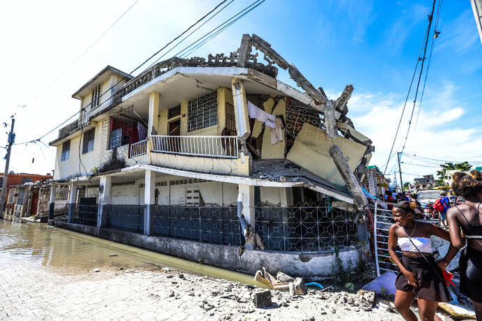 Devastation of earthquake in Haiti