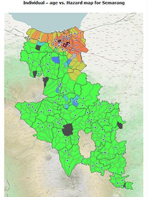 Map Graphic: Individual - age vs. Hazard map for Semarang