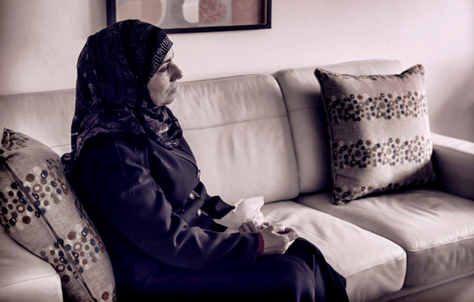 'Aida struggled to recover from the memories of the Sarin gas attacks in Ghouta, Syria. After her family fled to Lebanon, services at a women's centre helped her start a small business. © UNFPA/David Brunetti