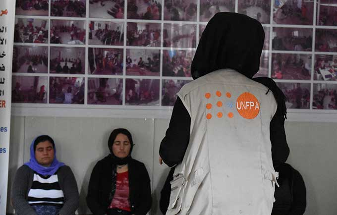Ghalia survived her ordeal thanks to the support of other refugees. © UNFPA