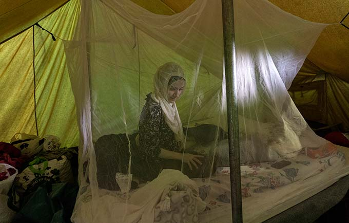 Syrian refugee Tayma Abzali gave birth to her daughter, Helen, last September in Greece. Lynsey Addario for Time