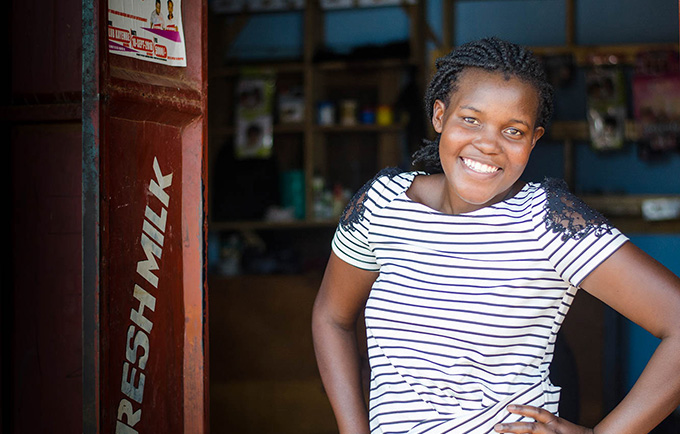 "When supported and empowered, young people can change the world. ""I want to help Uganda,"" says Edith Nambalirwa, a peer educator. ""If I cannot do it with money, let me do it with knowledge."" © UNFPA ESARO/Corrie Butler"
