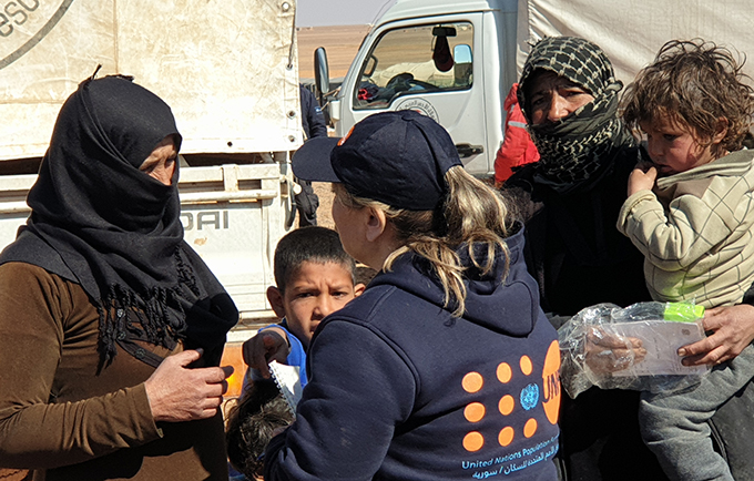 118-truck convoy delivers urgent aid to stranded residents in Rukban, Syria