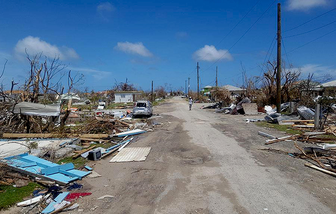 The United Nations Disaster Assessment and Coordination carried out a rapid assessment in Antigua and Barbuda on 8 September. © Silva Lauffer/UNDAC