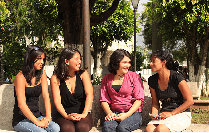 Young women in Guatemala. UNFPA supports programmes empowering adolescent girls to realize their rights. © UNFPA Guatemala