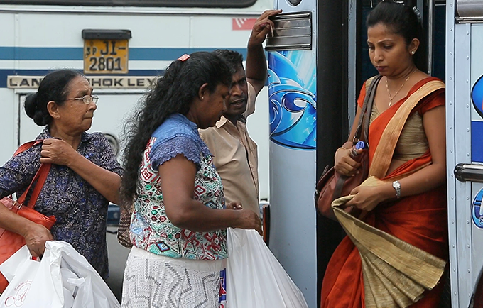 Sexual harassment is rampant on Sri Lanka's public transport system, with far-reaching effects on their jobs, educations and lives.  © UNFPA Sri Lanka
