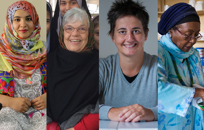 For International Women's Day, UNFPA is celebrating four activists who are blazing a trail for women. Images from left to right courtesy of Tanzila Khan, Deli Barroso, the NGO Atina and Arthur Nazaryan/Delphin Films.