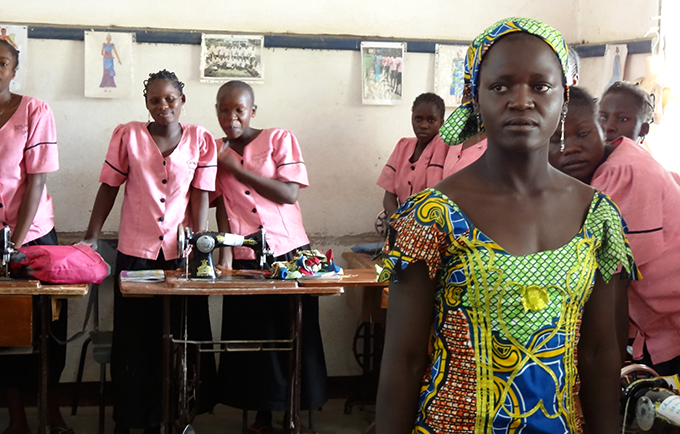 Sylvie Tokofi's village was attacked by Boko Haram. She was forced to flee and drop out of school. Today, a UNFPA-supported programme aims to help young people like her promote peace. © UNFPA Cameroon