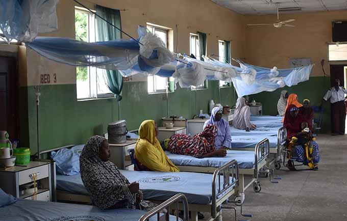 Women and girls are waiting for a fistula repair at Maiduguri's State Specialist Hospital © Anne Wittenberg/UNFPA