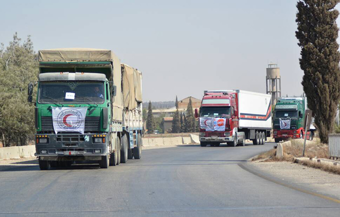 UNFPA delivered hygiene supplies to the city of Deir Ez-Zor, which had been inaccessible to humanitarians for three years. © UNFPA Syria