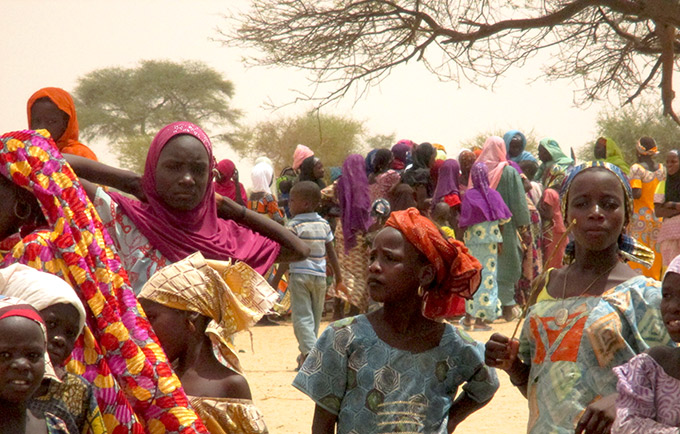 Tens of thousands of people have been displaced following attacks by Boko Haram. UNFPA estimates 3,000 displaced women and girls are pregnant and in urgent need of assistance. © UNFPA