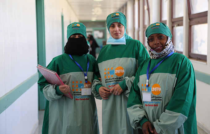 A medical team at Al Thawara Hospital successfully treated Shaima's obstetric fistula. © UNFPA Yemen