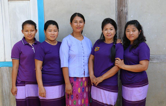 The staff at the Women's and Girls' Centre in Waing Maw, in Myanmar, are working with communities to stop gender-based violence. © UNFPA/Yenny Gamming