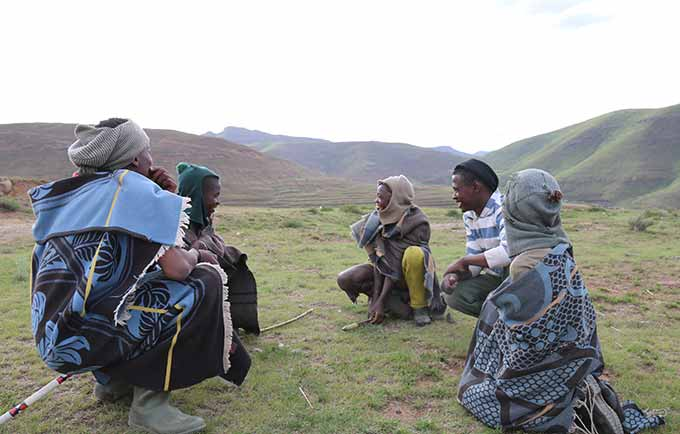 UNFPA works with survivors of violence and with law enforcement. But with studies showing that young herders are frequently among the perpetrators of violence, it became clear that efforts must be directed towards them, as well. © UNFPA Lesotho