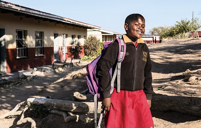 Temawelase is a sixth-grader in rural Swaziland. Whether the world is able to achieve its development goals depends, in large part, on her fate and the fate of girls like her. ©UNFPA/Barcroft Media/Mark Lewis