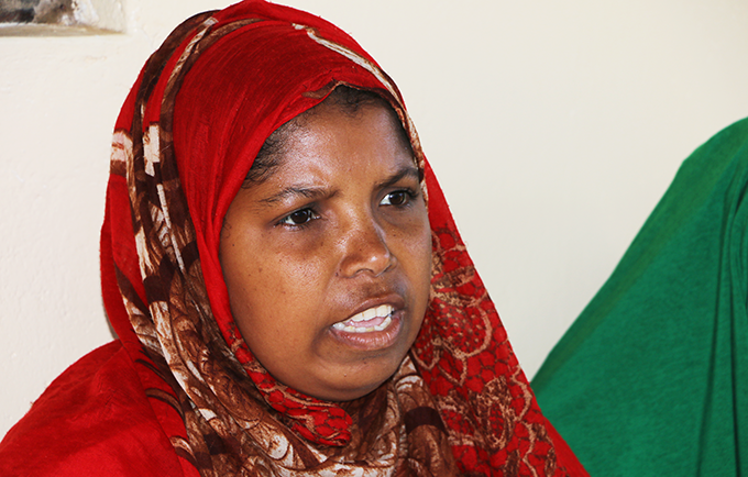 Aisha Tiro Bahero nearly died from pregnancy-related complications at her home on a tropical island off the coast of Kenya. © UNFPA/Douglas Waudo