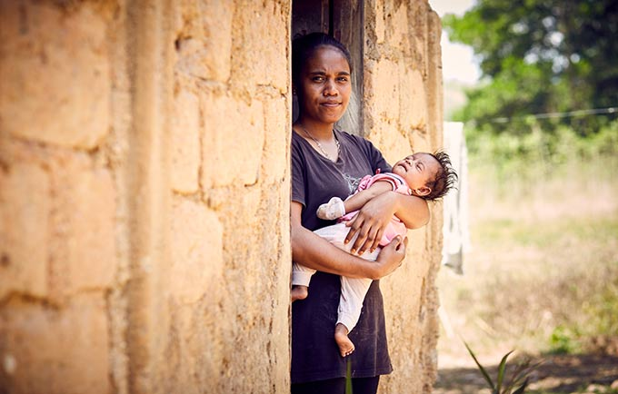 Natalia dropped out of school after becoming pregnant. © UNFPA/Ruth Carr