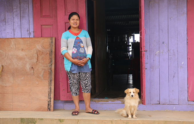 Ngun Hlei survived a serious pregnancy complication, thanks to her midwife. © UNFPA Myanmar/Yenny Gamming