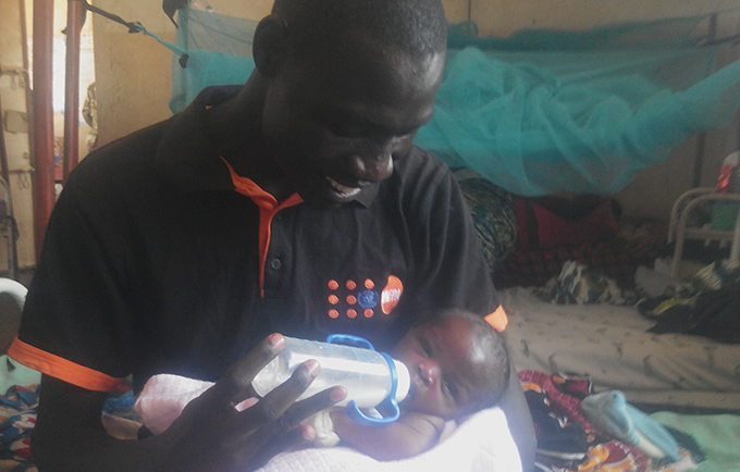 Midwife Justine Mangwi was not able to save the newborn's mother. © UNFPA South Sudan