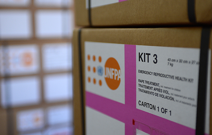 Violence against women and girls is pervasive throughout the world. A rape kit in South Sudan. © UNFPA/Tim McKulka