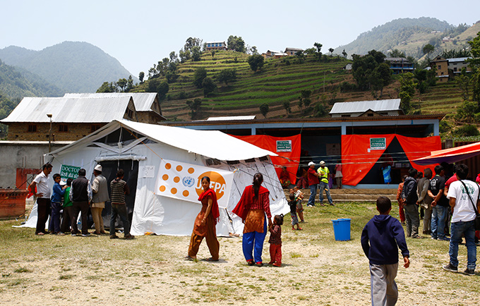 Mobile reproductive health camps like this one, in Kavre District, are reaching thousands with life-saving health care, counselling and health information. © UNFPA Nepal