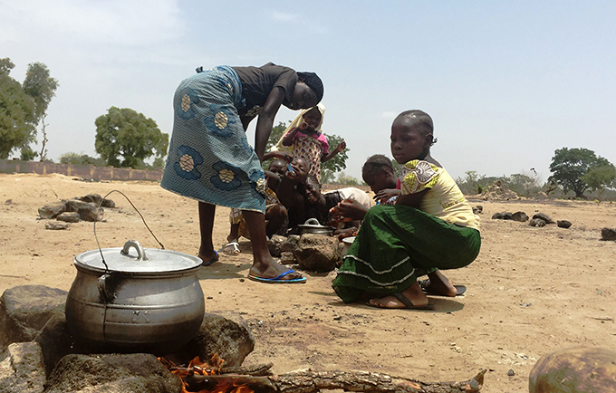 The crisis caused by the Boko Haram insurgency threatens to undermine development throughout the region. Girls in northern Nigeria. © UNFPA Nigeria/Ololade Daniel