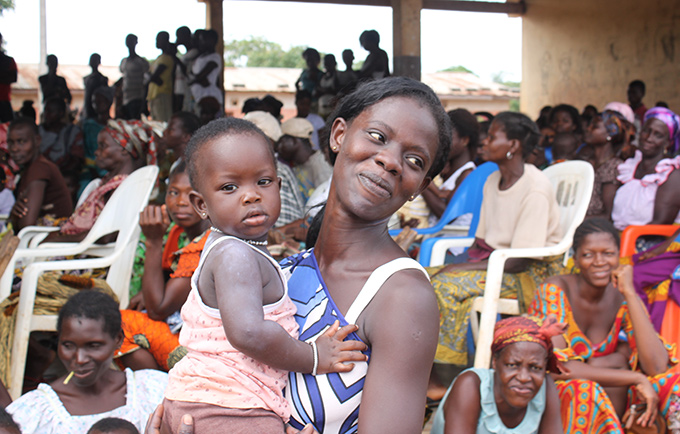 "Patricia, 23, arrived at the fair knowing very little about contraception. But she was intrigued. ""I do not want to have more children now because I do not have the means to support them,"" she said. © UNFPA WCARO"