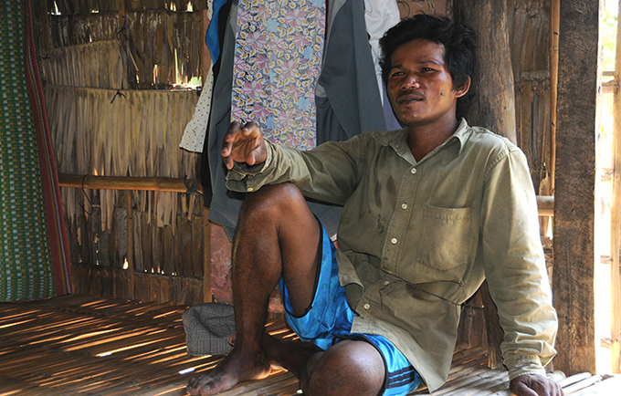Ry Chan says he used to be violent towards his first wife, a fact he greatly regrets. Today, he is helping to inspire change among the men in his rural Cambodian village. © UNFPA Cambodia/Sophanara Pen