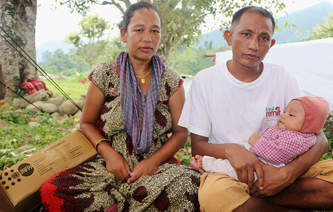 """Sharmila Dangol, 35, and her husband, Bhakta Dangol, 34, encourage other couples to learn about family planning. """"Family planning helps reduce poverty and is a key to prosperity,"""" said Ms. Dangol. © UNFPA Nepal/Santosh Chhetri"""