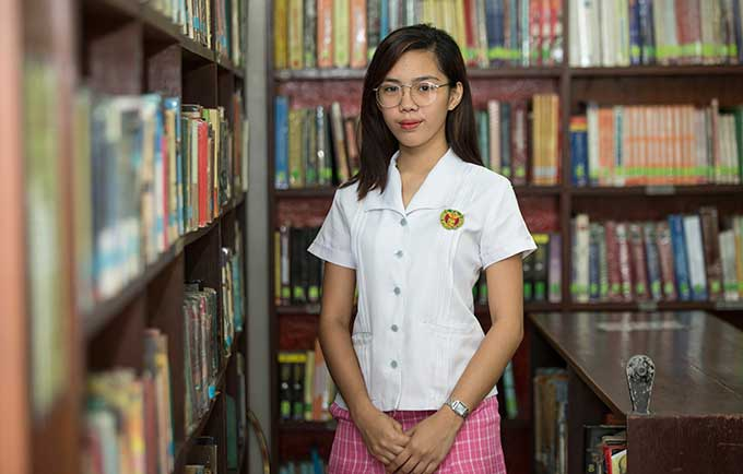 """We really need more information on sex and reproductive health,"" said Kathleen Acosta, 18, a senior and student leader at UP high school in Iloilo. © UNFPA Philippines"