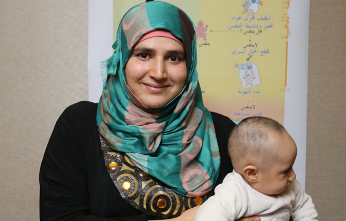 """There has been an exodus of qualified midwives and reproductive health professionals,"" Shatha Al Mostafa told UNFPA. © UNFPA/Nadine Cornier"
