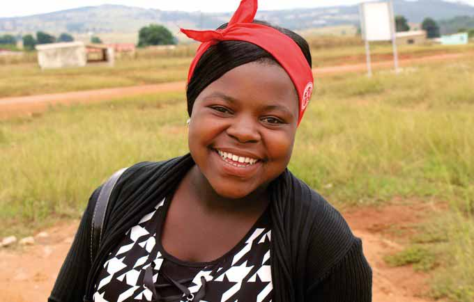 Takhona learned to protect herself from HIV from UNFPA's Safeguard Young People programme.