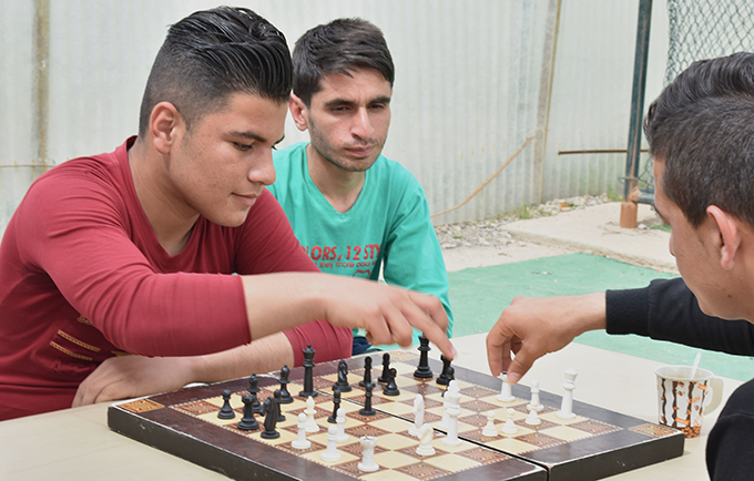 Sport improves confidence and builds community, say youth leaders.© UNFPA Iraq