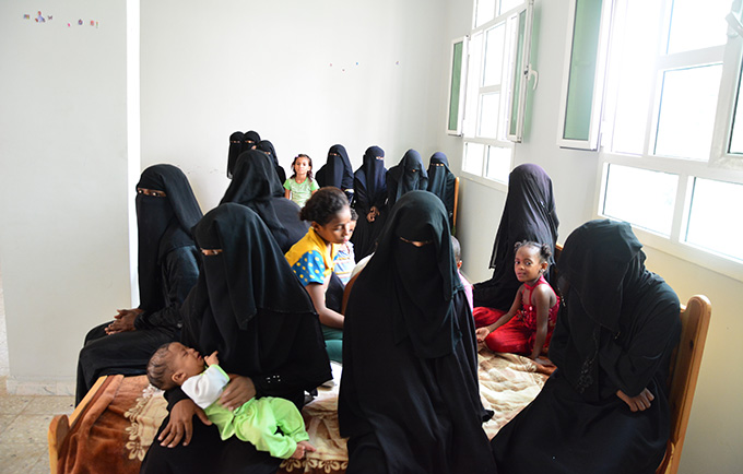 Violence against women was widespread even before the current conflict, but experts say abuses are becoming even more commonplace. A women's shelter in a port city in Yemen. © UNFPA Yemen