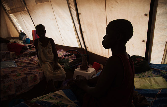Women attend a fistula repair camp in Aweil, South Sudan. The conflict has disrupted access to life-saving reproductive health care, including treatment for obstetric fistula. © UNFPA South Sudan