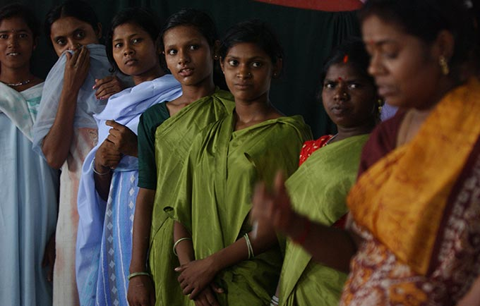 Girls at a women's education centre in Bihar, India. Child marriage is a serious concern in the state. © UNICEF
