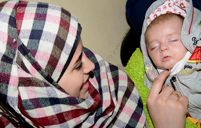 A mother and her newborn in Syria. UNFPA estimates half a million women in Syria are   pregnant and affected by the crisis, which is entering its fifth year. © UNFPA Syria