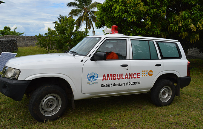 The ambulance, provided in 2011, has eased the cost and difficulty of receiving emergency maternal and paediatric care. © UNFPA/Nasser Youssouf