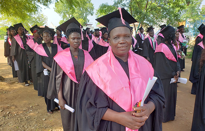 A graduate at 47, new midwife triumphs over life's trials