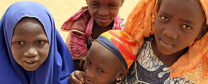 Niñas en el Níger