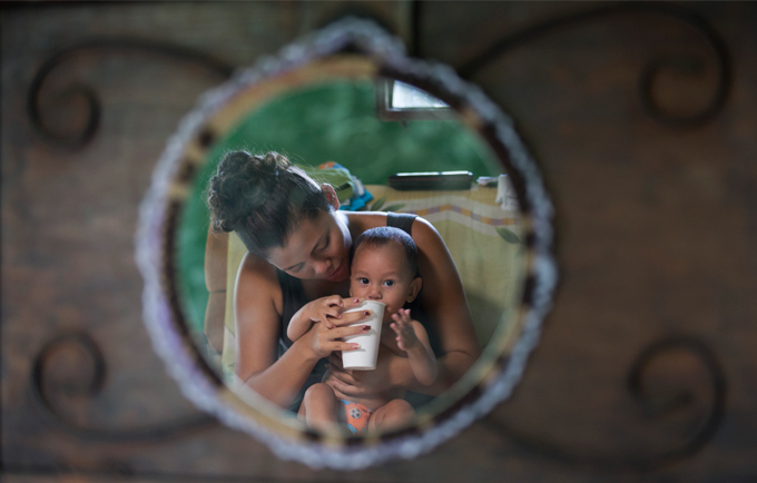 Hillary Bustos Gómez found herself pregnant at 16 years old. © UNFPA/Priscilla Mora