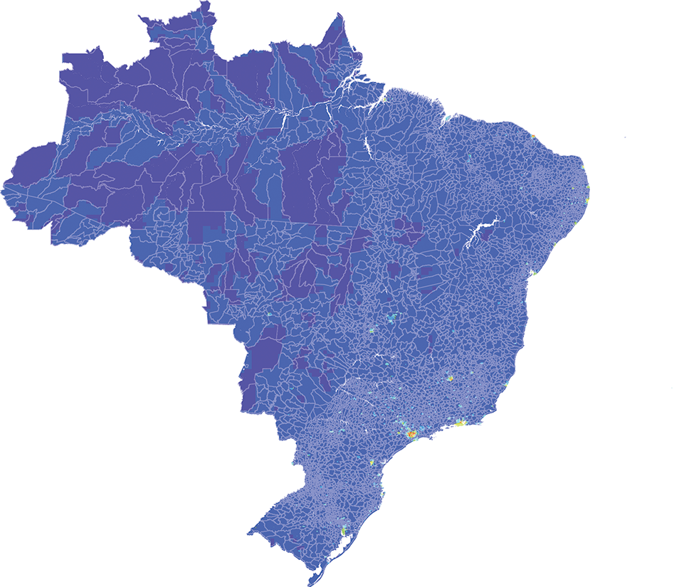 Brazil - Number and distribution of pregnancies (2012)
