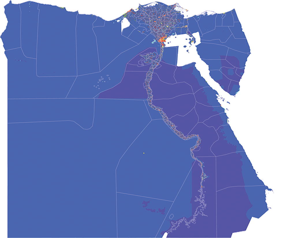 Egypt - Number and distribution of pregnancies (2012)