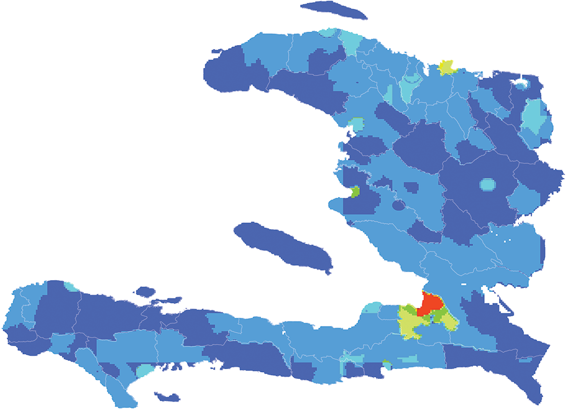 Haiti - Number and distribution of pregnancies (2012)