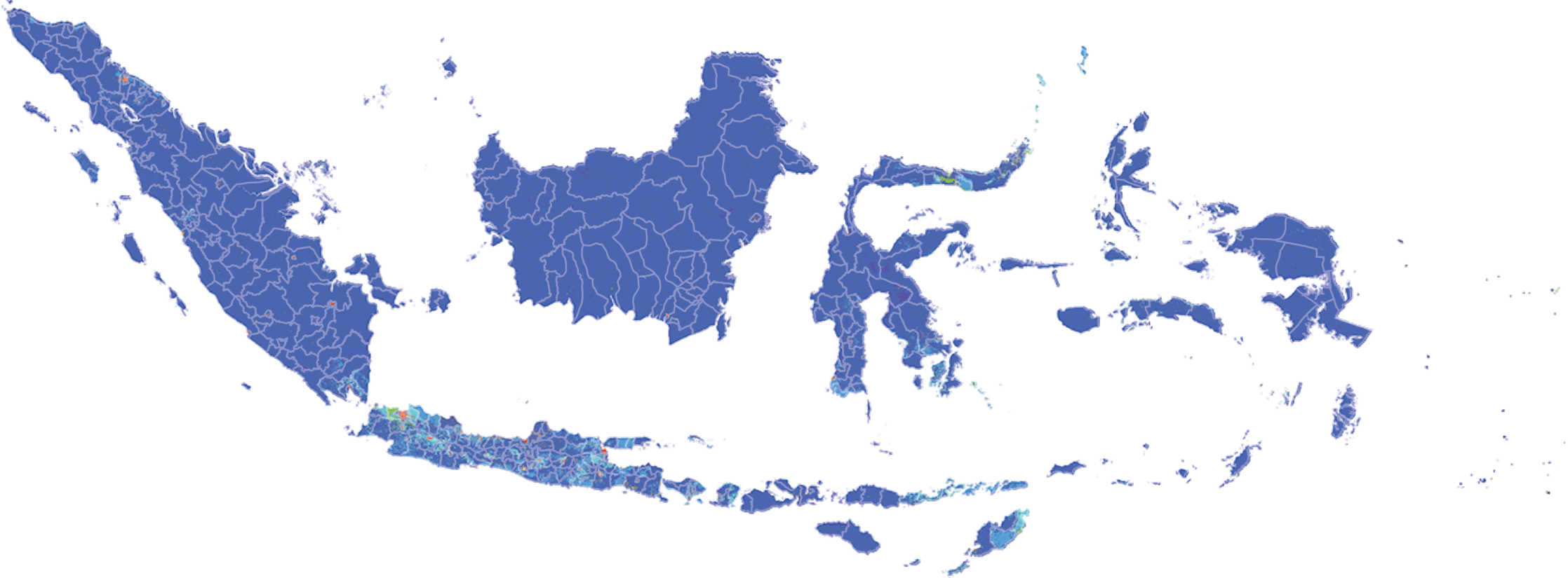 Indonesia - Number and distribution of pregnancies (2012)